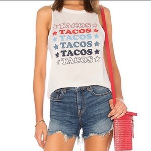 NWT Chaser Taco Star Tank in Salt - S